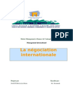 La Negociation Internationale