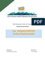 La Negociation Internationale