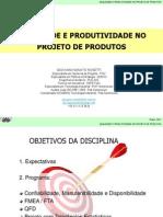 Unis Qualidade Confiabilidade Aula 1 29mar2011