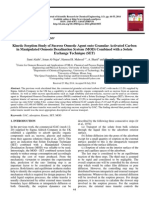 Kinetic Sorption Study of Sucrose Osmotic Agent onto Granular Activated Carbon in Manipulated Osmosis Desalination System (MOD) Combined with a Solute Exchange Technique (SET)