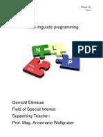 Neuro Linguistic Programming - Spezialgebiet
