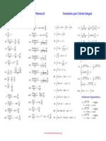 Formulario Para Calculo Diferencial Formulario Para Calculo Integral