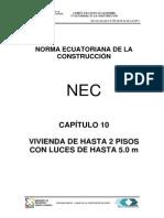 Nec Cap10 Vivienda Hasta 2 Pisos