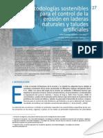 Metodologias Sostenibles Para El Control de La Eosion en Laderas Naturales y Taludes Artificiales