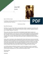 Dennis Bates SDEC Letter