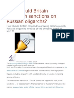 How Should Britain Approach Sanctions on Russian Oligarchs