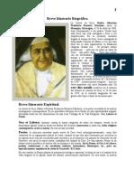 Breve Itinerario Biográfico de la Sierva de Dios Madre Albertina Ramirez Martinez.