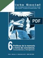 Revista - Conflicto Social - Politicas de La Memoria O Toma de - Conciencia