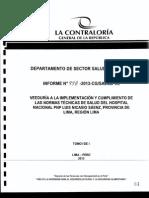 """Veeduría al Hospital Nacional de la Policía Nacional del Perú """"Luis Nicasio Sáenz"""""""