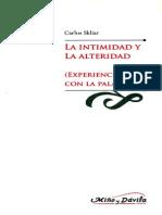 La Intimidad y La Alteridad - Carlos Skliar