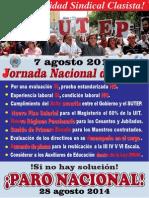 Jornada Nacional de Lucha - 07 Agosto