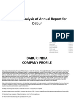 Financial Analysis of Annual Report for Dabur