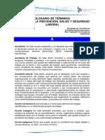 Glosario Terminos Prevencion Saludyseguridadlaboral