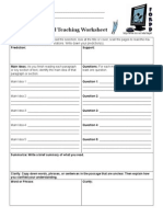 reciprocalteaching worksheet