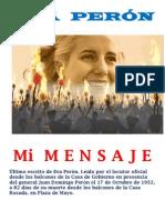 MI MENSAJE- Eva Peròn