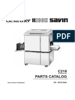 Ricoh VT3600 Parts manual