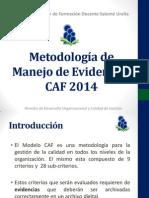Metodología de Manejo de Evidencias CAF 2014