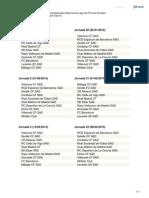 Calendario Liga Bbva 2014 2015