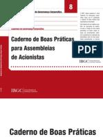 Caderno de Boas Práticas Para Assembleia de Acionistas