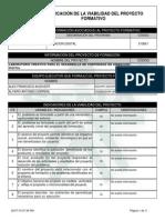 Reporte Viabilidad Proyecto de Aprendizaje - 738926 - LABORATORIO CREATIVO PARA EL D