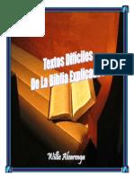 Textos Difc3adciles de La Biblia Explicados Por Willie Alvarenga