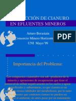 Destrucción de Cianuro en Efluentes Mineros.ppt