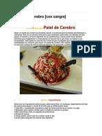 Pastel de Cerebro