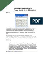 Caluladora en Visual 2010