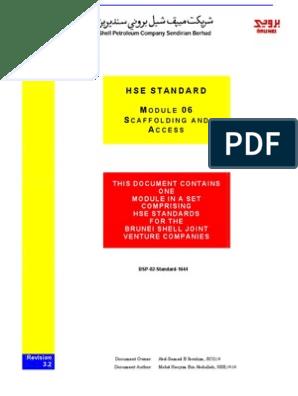 BSP-02-Standard-1644 - Scaffolding & Access (Mod 06, Rev