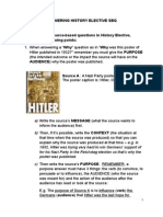 Tips for History Elective SBQ