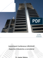 Tratamiento Tributario Inversiones Uruguay