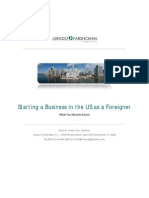 Starting a Business in the US as a Foreigner by Romy B. Jurado