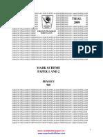 STPM Trials 2009 Physics Answer Scheme (Terengganu)w