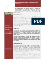 Newsletter 02 Re Patent Law_02.12. 09