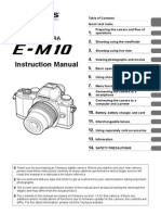 Olympus OM-D E-M10 Instruction Manual (English)