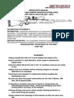 Tm 9-1005-306-10 7.62mm,m24 Sniper Weapon System (Sws) June 2003