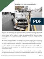 Mueren Más en Carretera Que Por Crimen Organizado