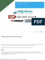 Desbloquear Hojas de Cálculo Excel - CivilGeeks.com