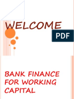 bank Finance for Working Capital