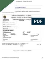 Comprovante de Inscrição e de Situação Cadastral - Impressão