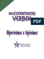 Hiperónimos e Hipónimos 2º Grado Primaria