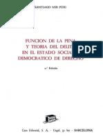 Mir Puig Funcion de La Pena y Teoría Del Delito