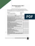 observational checklist reading grade 2