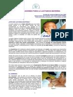 [Lactancia Materna] - Asociación Española de Pediatría - Rercomendaciones Para La Lactancia Materna
