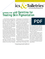 032807 Creatine and Carnitine for Treating Skin Pigmentation