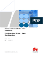 Configuration Guide - Basic Configuration Quidway S7700 Smart Routing Switch