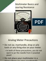 AnalogMultimeterBasicsandMeasuringResistance10_5_11