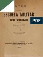 Datos de La Escuela Militar de Chile. Diciembre de 1902. (1902)
