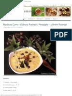 Madhura Curry _ Madhura Pachadi _ Pineapple - Munthiri Pachadi