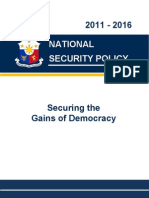 National Security Policy 2011 2016